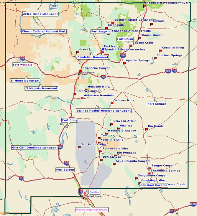 Fort Tours Inc – New Mexico Tourist Map