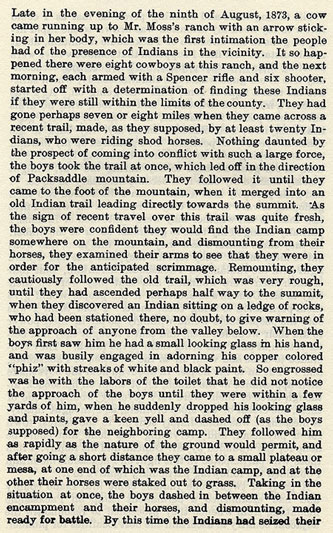 Packsaddle story by Wilbarger