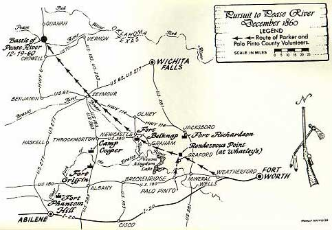 Pease River Map