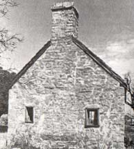 Picture of the restored guardhouse at Fort Phantom Hill taken by Charles M. Robinson, III from the book, Frontier Forts of Texas