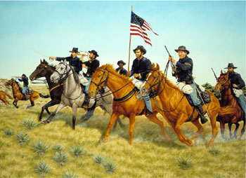 Picture of the Battle of Prairie Dog Creek