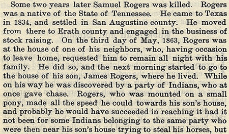 Samuel Rogers story by Wilbarger