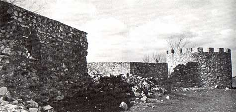 Photo of Presidio San Saba taken by Charles M. Robinson, III from the book, Frontier Forts of Texas
