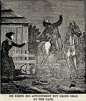 He Keeps His Appointment But Drops Dead picture from the book Indian Depredations in Texas by J. W. Wilbarger