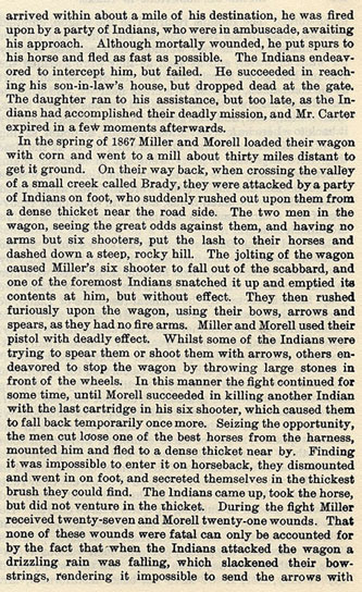 Murders and Battles in San Saba and Llano Counties story from the book Indian Depredations in Texas by J. W. Wilbarger