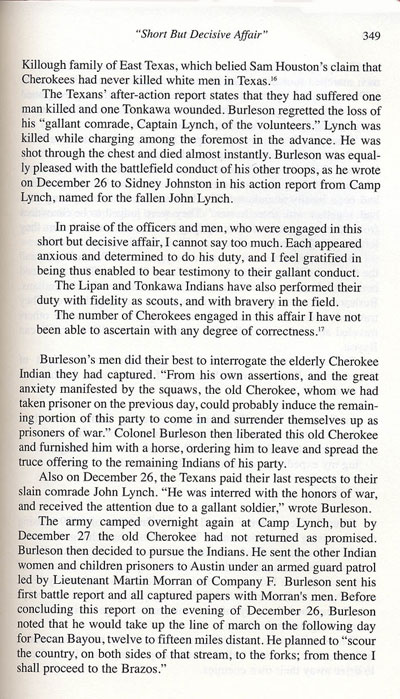 Cherokee Battle, Christmas 1839