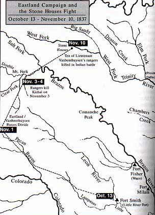 Map of the Eastland Campaign and the Stone Houses Fight