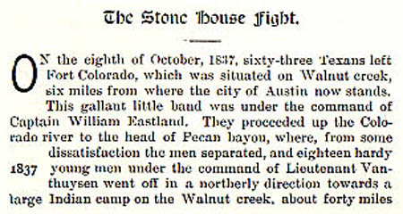Stone House story by Wilbarger