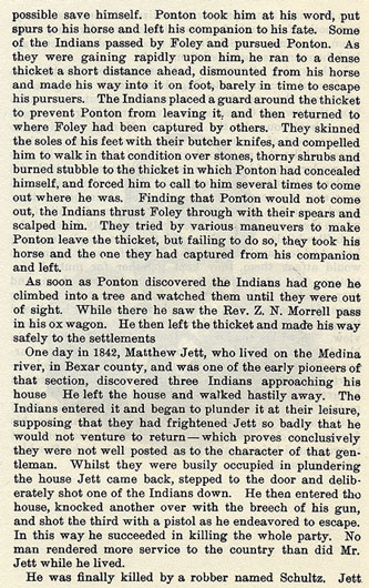 Incidents iin Southwest Texas story from the book Indian Depredations in Texas by J. W. Wilbarger