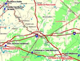 Plum Creek Battleground Map