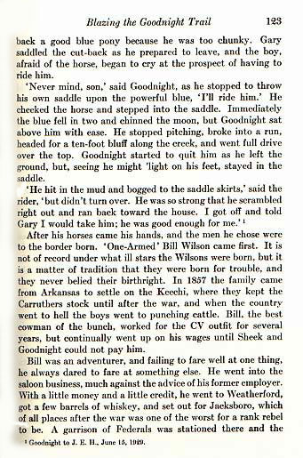 Charles Goodnight, Cowman and Plainsman