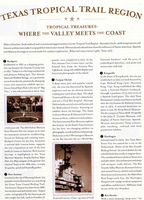 Texas Tropical Trail Region Brochure