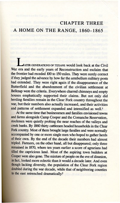 Confederate Clear Fork Story from the book, Texas Frontier, by Ty Cashion
