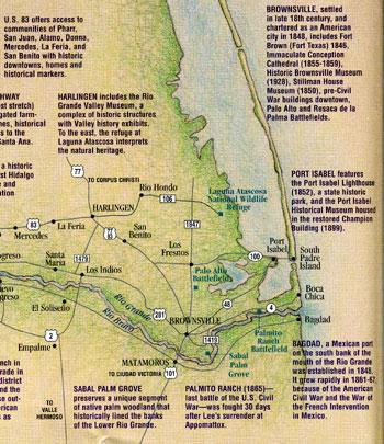 Historic Map of the Rio Grande Valley