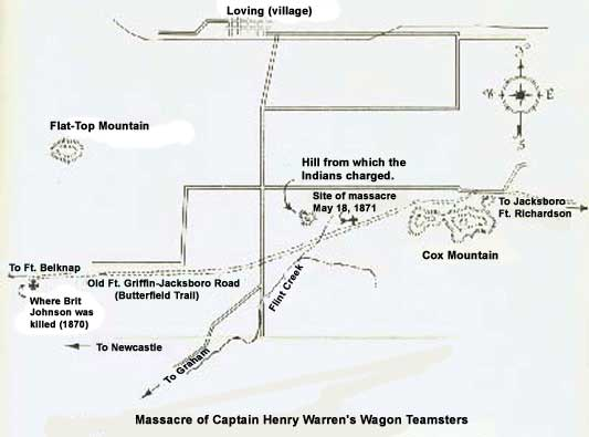 Warren Wagon Train Massacre Map