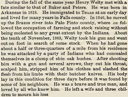 Henry Welty story by Wilbarger