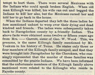 Massacre of Wood and the Killough Family
